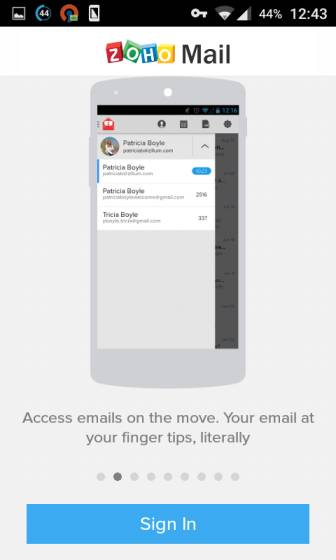 Zoho Mail Android App
